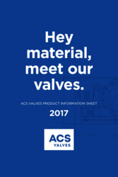 ACS Valves Product Information Sheet