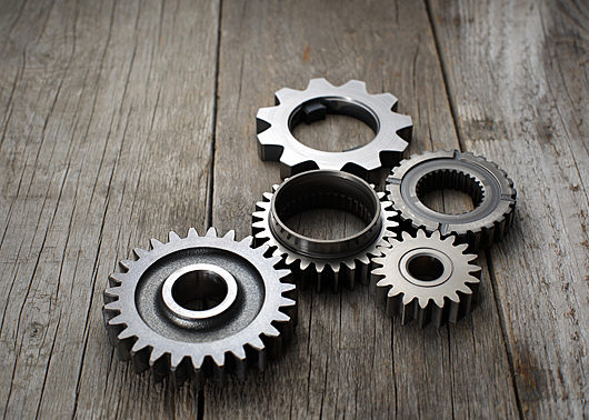 Gears and machine parts as a maintenance concept
