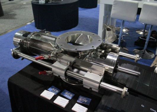 rotary valve on display featuring retractable rotor