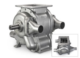 cast iron airlock rotary valve with square flange