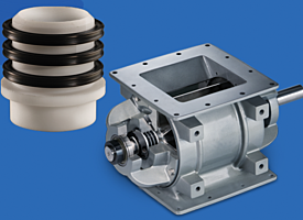 Rotary airlock valve and shaft seal by ACS Valves