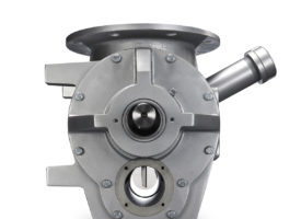rotary airlock valve with round flange with return side vent port