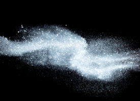 Flowing white dust: Sugar or flour conveying concept