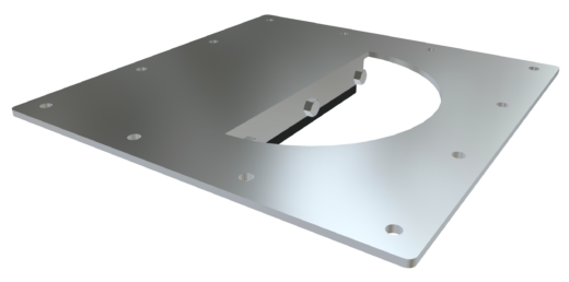 Inlet Shear Protector: Half-Moon Style for Square Valves