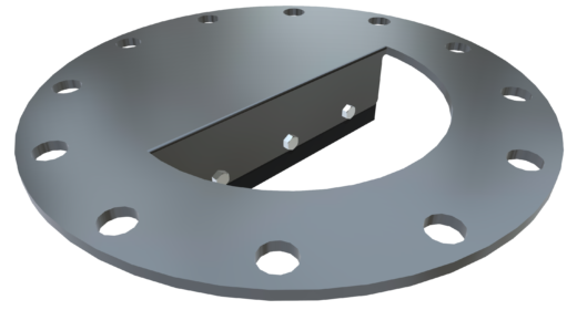 Inlet Shear Protector: Half-moon Style for Round Valves